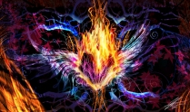 """""""Hearts on Fire"""" 2008 - Pencil sketch to digital composite."""