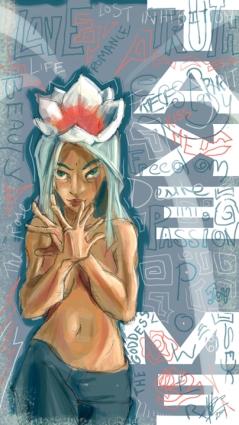 """Take Me"" 2005 - Digital sketch and digital color composite."