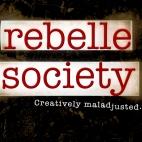 Web banner design for sidebar. Company: Rebelle Society.