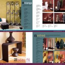 Catalog layout design. Company: Texture Home Decor.