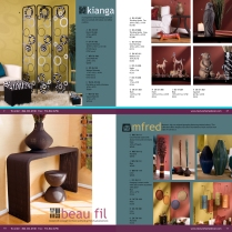 Catalog layout design. Company: Texture Home Decor.