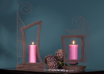 French wire frame candle sconces.